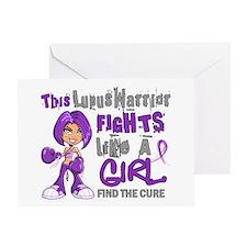 Licensed Fight Like a Girl 42.9 Lupu Greeting Card