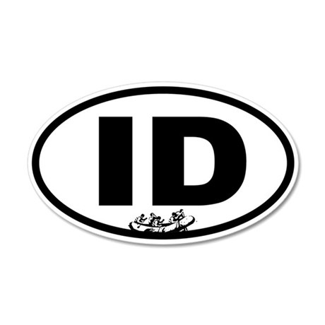 Idaho Rafting 35x21 Oval Wall Decal