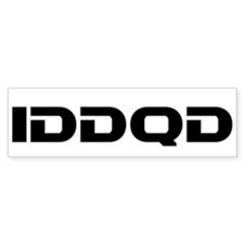 IDDQD Bumper Sticker