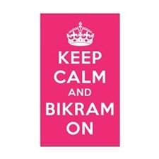 Keep Calm and Bikram On Rectangle Car Magnet