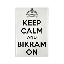 Keep Calm and Bikram On Rectangle Magnet (10 pack)
