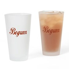 Begum name Drinking Glass