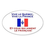 Qu&#233;France: Autocollant (Rectangulaire) Decal