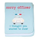Sorry Officer baby blanket