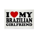 I Love My Brazilian Girlfriend Rectangle Magnet