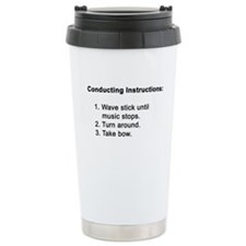 Conducting Instructions Ceramic Travel Mug