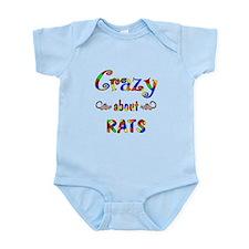 Crazy About Rats Infant Bodysuit