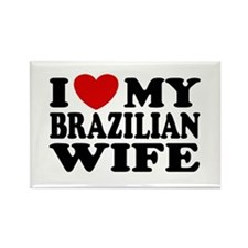 I Love My Brazilian Wife Rectangle Magnet