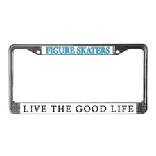 Figure Skating License Plate Frame