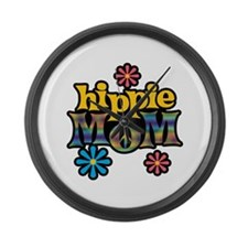 Hippie Mom Large Wall Clock