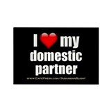 """Love Domestic Partner"" Rectangle Magnet (10 pack)"