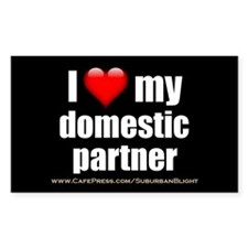 """Love Domestic Partner"" Decal"