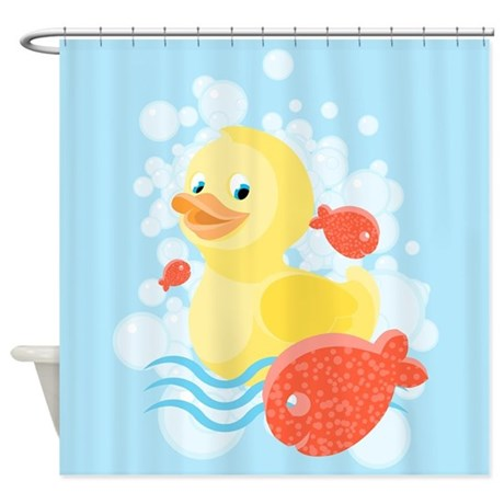Red And Blue Shower Curtain Rubber Ducky Shower Head