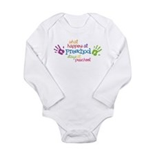 Stays At Preschool Long Sleeve Infant Bodysuit