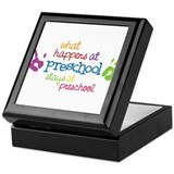 Stays At Preschool Keepsake Box