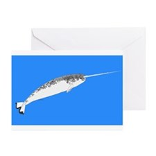 Narwhal whale bbg Greeting Cards (Pk of 20)
