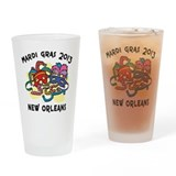 Mardi Gras 2013 Drinking Glass