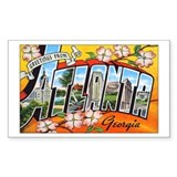 Atlanta Georgia Greetings Rectangle Decal