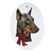 Doberman Pinscher Ornament (Oval)