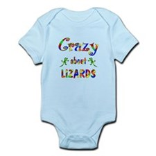 Crazy About Lizards Onesie