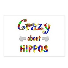 Crazy About Hippos Postcards (Package of 8)