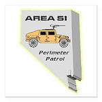 Area 51 Perimeter Patrol Square Car Magnet 3