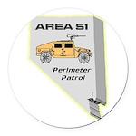Area 51 Perimeter Patrol Round Car Magnet