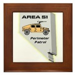Area 51 Perimeter Patrol Framed Tile