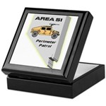 Area 51 Perimeter Patrol Keepsake Box