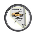 Area 51 Perimeter Patrol Wall Clock