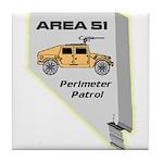 Area 51 Perimeter Patrol Tile Coaster