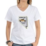 Area 51 Perimeter Patrol Women's V-Neck T-Shirt