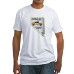 Area 51 Perimeter Patrol Fitted T-Shirt