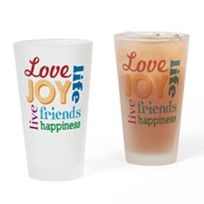 A composition of love Drinking Glass