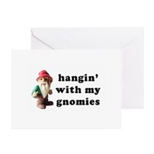 Hangin' with my Gnomies Greeting Cards (Package of
