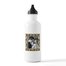 Custom Photo Damask Frame Water Bottle