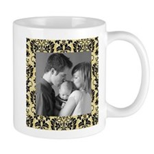 Custom Photo Damask Frame Small Mug