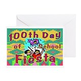 100th Day Bee There Greeting Card