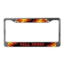 Retro Hell Hound License Plate Frame