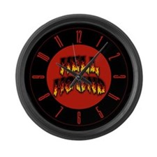 Retro Hell Hound Large Wall Clock