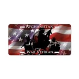 Afghanistan War Veteran Aluminum License Plate