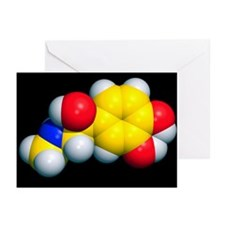 Adrenaline molecule - Greeting Cards (Pk of 20)