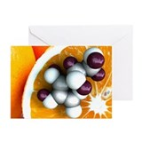 Vitamin C, molecular model - Greeting Cards (Pk of