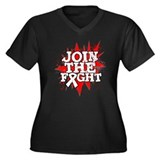 Join Fight Retinoblastoma Women's Plus Size V-Neck