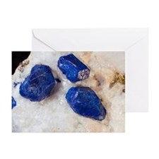 Lapis lazuli crystals - Greeting Cards (Pk of 20)