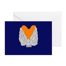 Thyroid gland, artwork - Greeting Cards (Pk of 20)