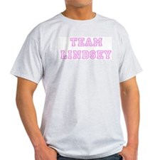 Pink team Lindsey Ash Grey T-Shirt