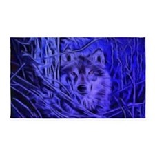 Night Warrior Wolf 3'x5' Area Rug