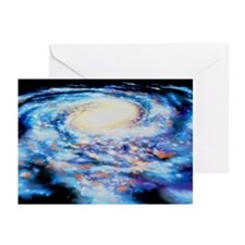 View of our Milky Way galaxy - Greeting Cards (Pk