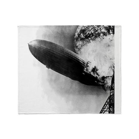 Burning Zeppelin Throw Blanket